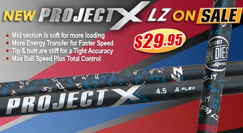 Project X LZ 55 44 Graphite Wood Shaft