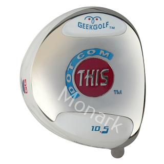 Custom-Built Geek Golf Dot-Com-This Titanium Driver - White