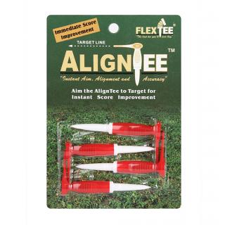FlexTee AlignTee Flexible Golf Tees - Pack of