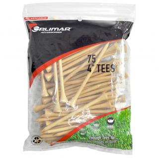 Orlimar 4-Inch Golf Tees 75-Pack - Natural