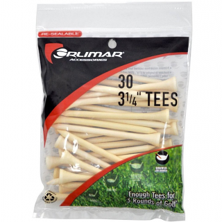 Orlimar 3-1/4 Inch Natural Golf Tees