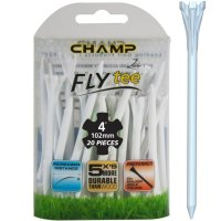 "Champ Zarma FLYTee 4"" White Golf Tees 20 pack"