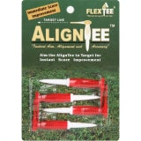 FlexTee AlignTee Flexible Golf Tees - Pack of