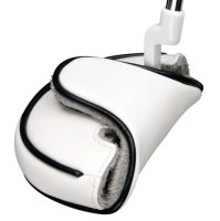 White PU Half Mallet Putter Headcover