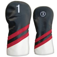 Synthetic Headcovers Black/Red/White