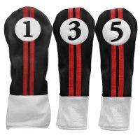 Sahara Retro Golf Headcovers Black/Red/White