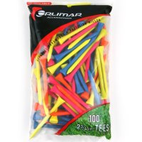 Orlimar 2-3/4 Inch Florescent Golf Tees 100-Pack - Multi-Color