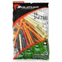 Orlimar 3-1/4 Inch Golf Tees 75-Pack - Multi-Color