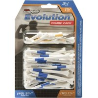 "Pride 1-1/2"" & 3-1/4"" Evolution PTS Golf Tee Combo - 50 Pack"