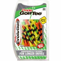 "Pride Evolution Striped Plastic 2-3/4"" Golf Tees - 30 Pack"
