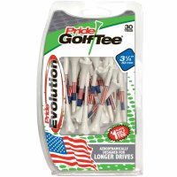 Pride Evolution Plastic American Flat Golf Tees - 30 Pack